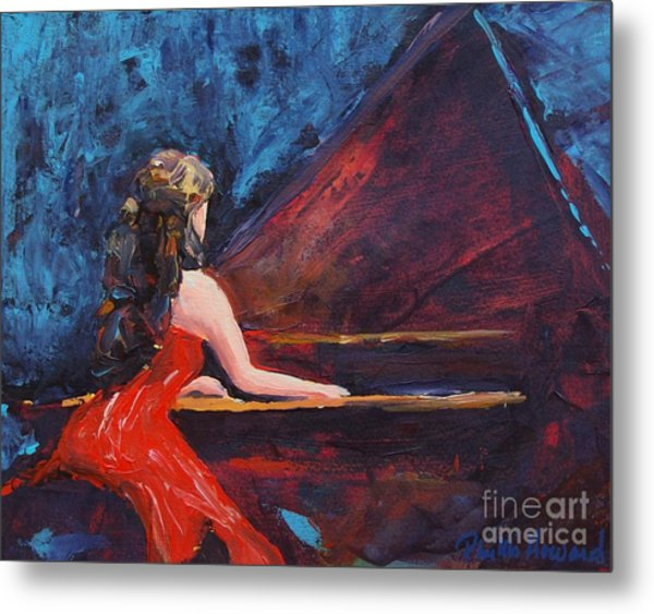 Recital In Red Metal Print