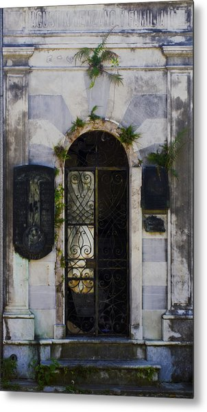 Recoleta Door Metal Print