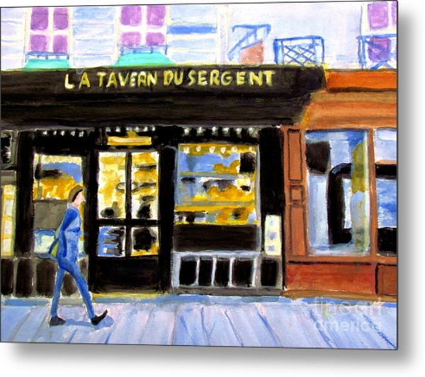 Reconnoiter Parisian Stores In Your Dreams Metal Print by Stanley Morganstein