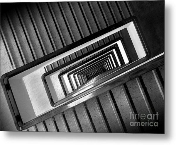Rectangular Spiral Staircase Metal Print