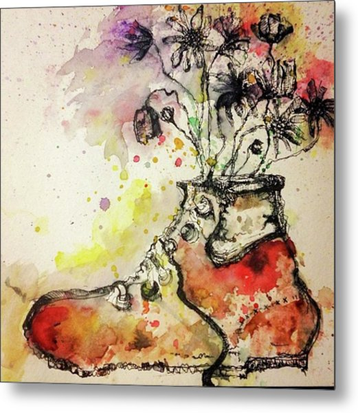 Recycle Shoes Metal Print