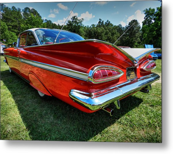 Red '59 Impala 001 Metal Print