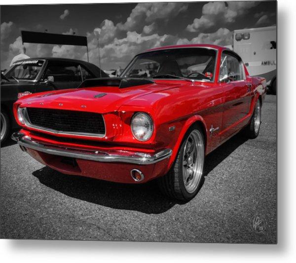 Red '65 Mustang 001 Metal Print