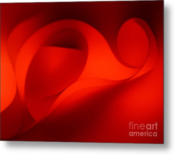 Red Abstract 4 Metal Print