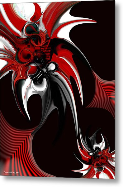 Red And Black Formation Metal Print