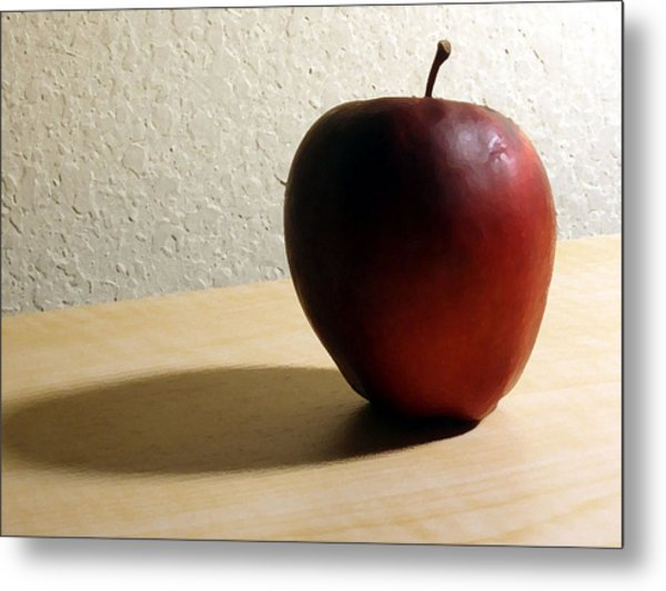Red Apple Metal Print by Eric Forster