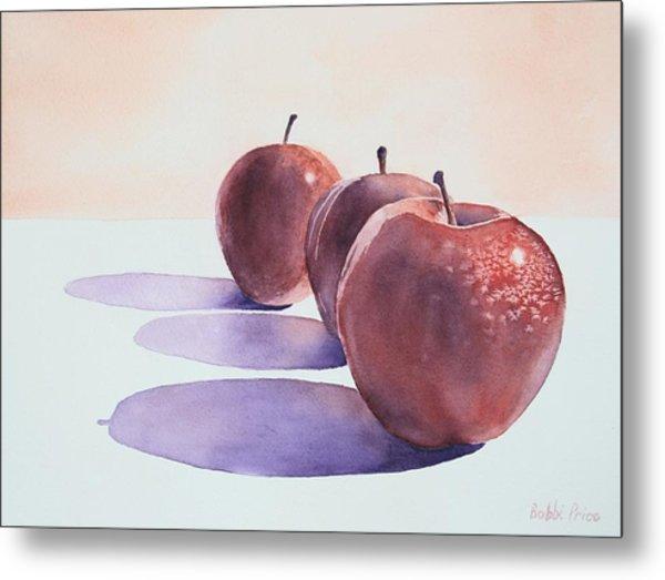 Red Apples Metal Print by Bobbi Price