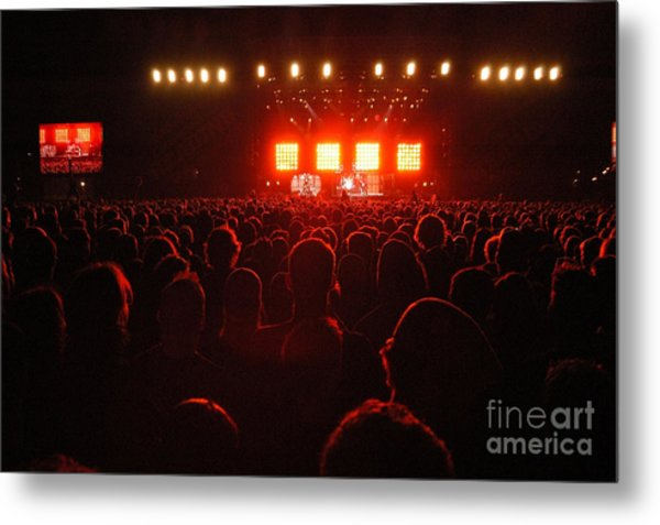 Red Audience Metal Print by Andy Smy