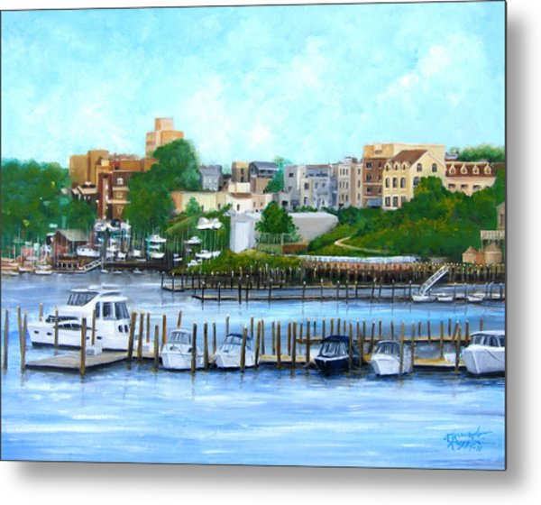 Red Bank From The Molly Pitcher Hotel Metal Print