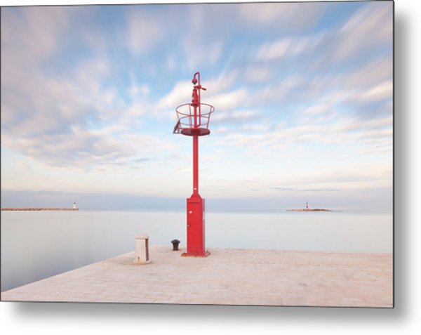 Red Beacon Metal Print