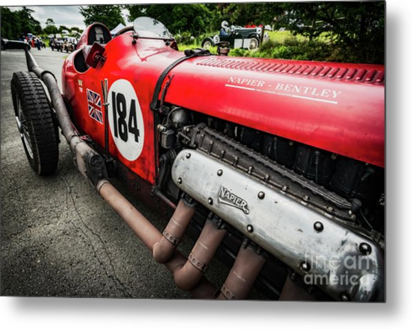 Red Bentley Metal Print