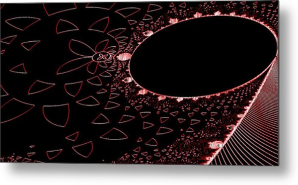 Red Black And Beauty Metal Print by Thomas Smith