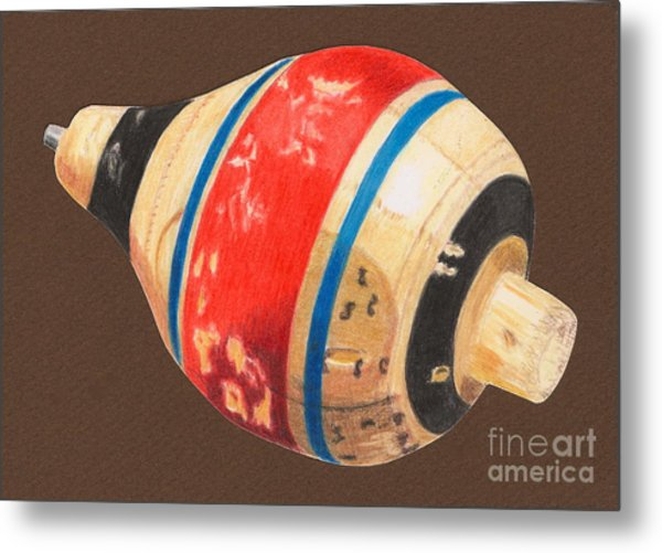 Red Black And Blue Top Metal Print