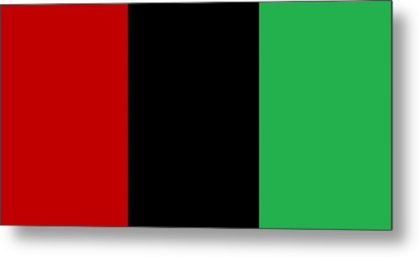 Red Black And Green Metal Print