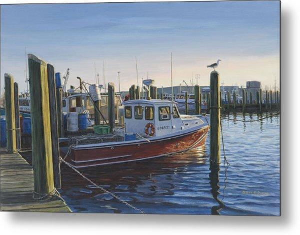 Red Boat At Galilee Metal Print by Bruce Dumas