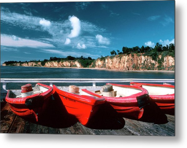 Red Boat Diaries Metal Print