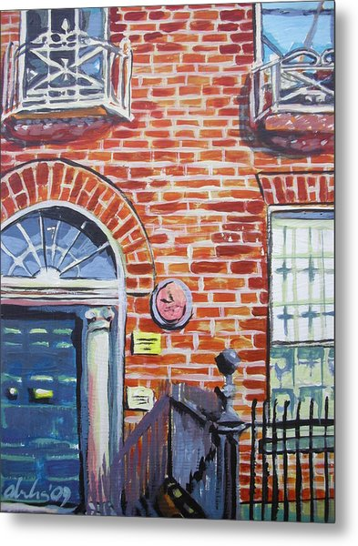 Brick House Addition In Dublin: Red Brick Building In Dublin Painting By Aleksandra Buha