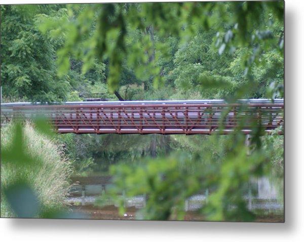 Red Bridge Metal Print by Heather Green