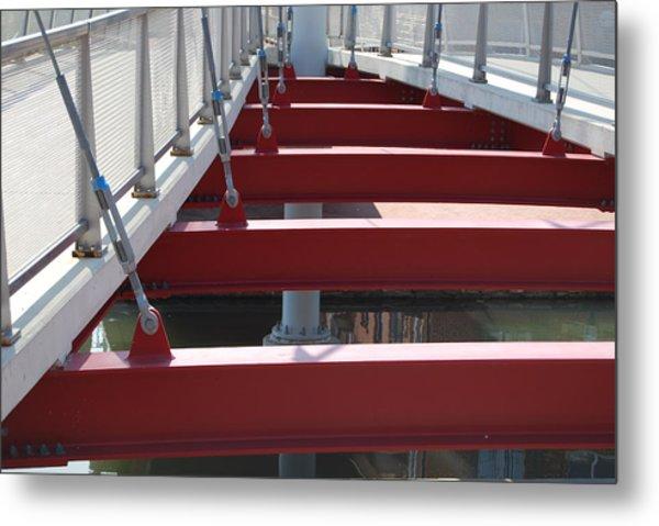 Red Bridge Metal Print by Jennifer Lauren