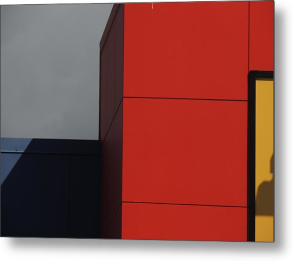 Red Building Abstract 1 Metal Print