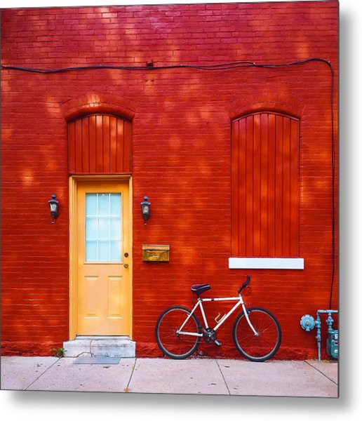 Red Building Metal Print