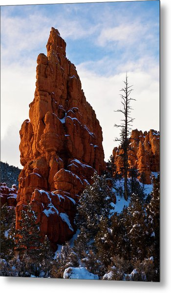 Red Canyon Sentinel Metal Print by James Marvin Phelps