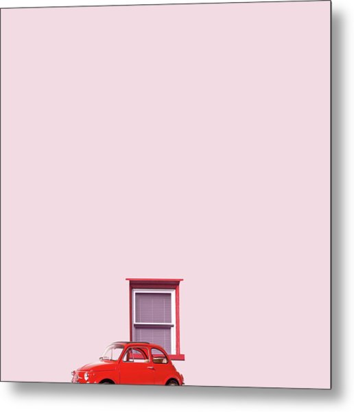 Red Car Metal Print
