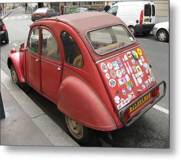 Red Car Metal Print by James Lukashenko