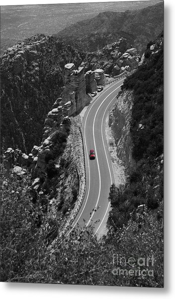 Red Car Metal Print by Jim Wright