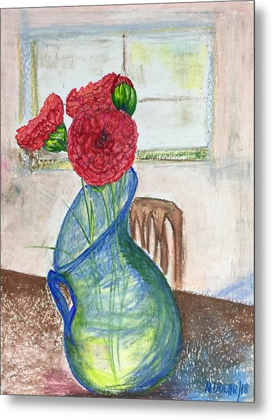 Red Carnations Metal Print