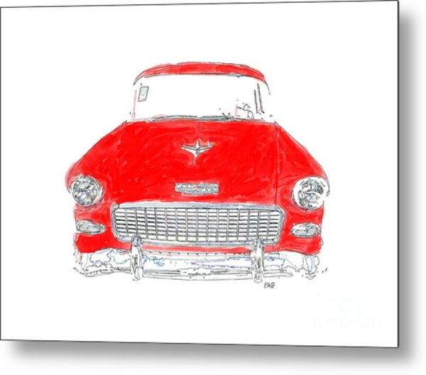 Red Chevy T-shirt Metal Print