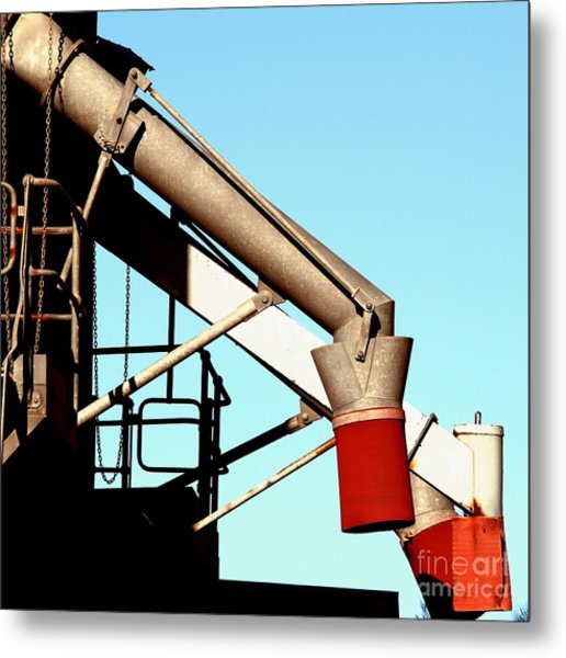 Metal Print featuring the photograph Red Chutes by Stephen Mitchell