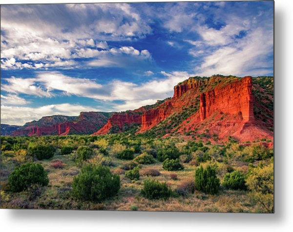 Red Cliffs Of Caprock Canyon 2 Metal Print