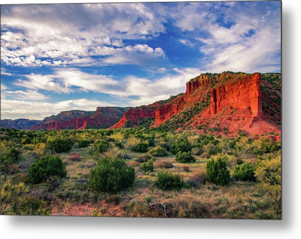 Red Cliffs Of Caprock Canyon Metal Print