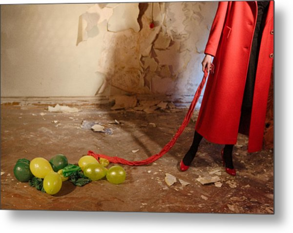 Red Coat #4810 Metal Print