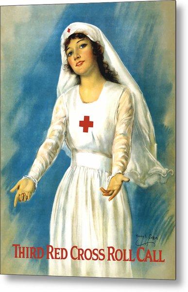 Red Cross Nurse - Ww1 Metal Print