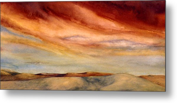 Red Desert Metal Print by Nancy  Ethiel