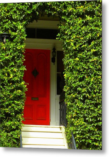 Red Door Metal Print by Kim Zwick