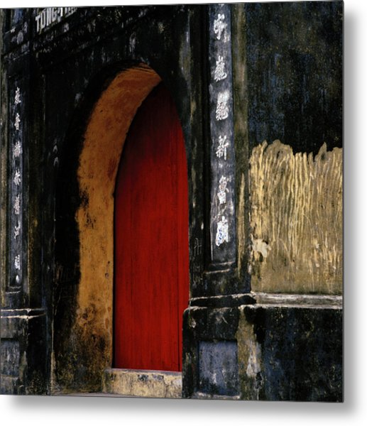 Red Doorway Metal Print