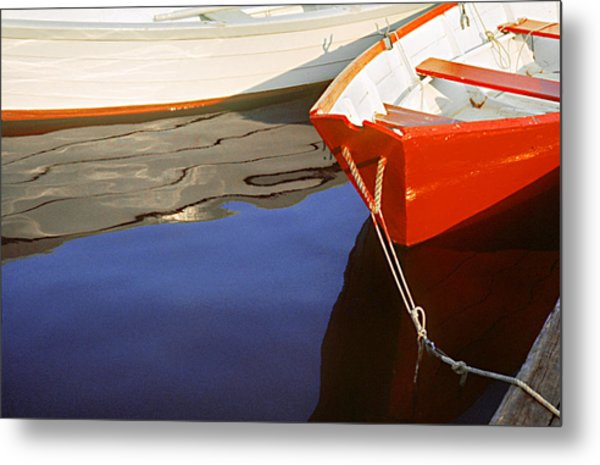 Red Dory Photo Metal Print by Peter J Sucy