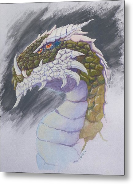 Red Eye Dragon Metal Print