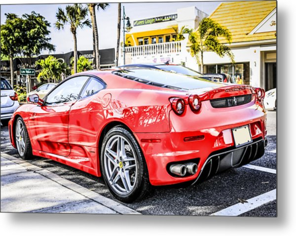 Red Ferrari Metal Print