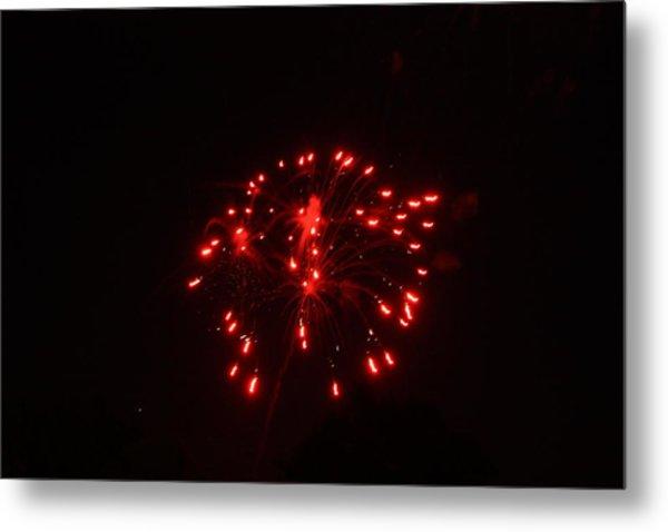 Red Fireworks Metal Print by JoAnn Tavani