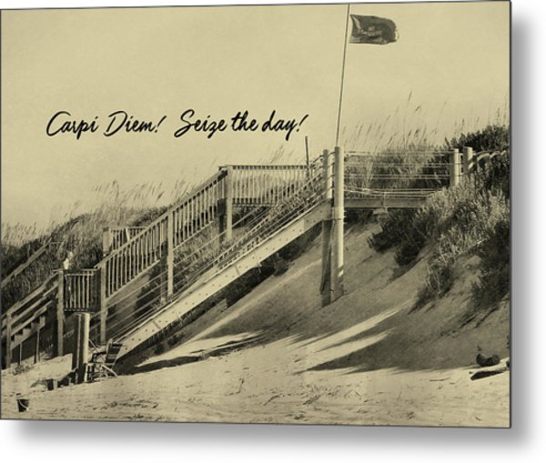 Red Flag Day Quote Metal Print by JAMART Photography