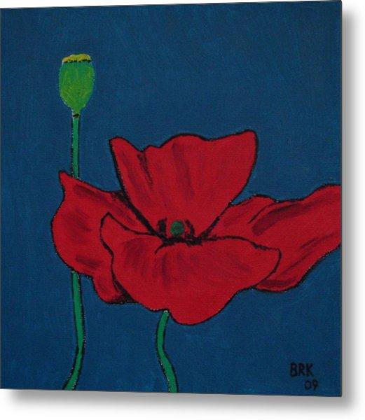 Red Flower Metal Print by Bo Klinge