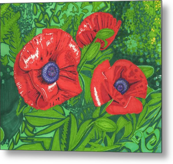 Red Flower Metal Print by Will Stevenson