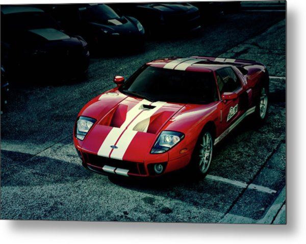 Red Ford Gt Metal Print