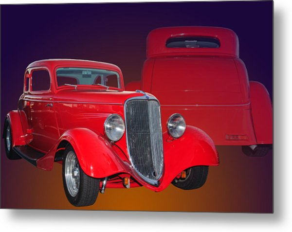 Red Ford Metal Print