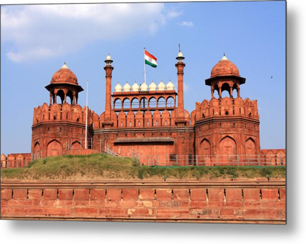 Red Fort New Delhi Metal Print