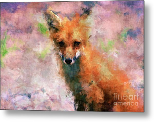 Metal Print featuring the digital art Red Fox  by Claire Bull